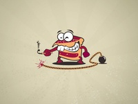 Cake Funny Character Illustration