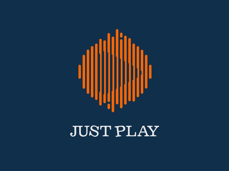 Just Play modern design creative logo playful logo creative logo design creative logo design
