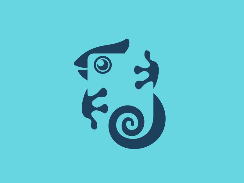 Iguamera modern negative space logo logo funny creative design playful logo character cute creative logo design creative logo logo design