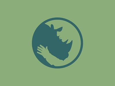 The Rhino creative logo design illustration logo creativelogo modern unique logo animal logos creative  design negative space logo