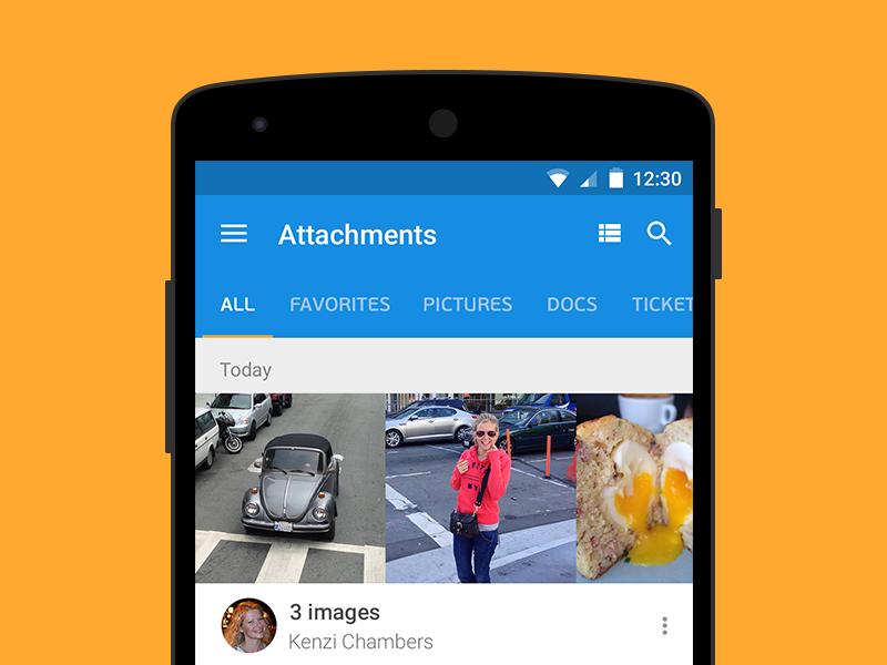 Attachments Mail.ru ux ui mail concept material design android mobile attachment mailru
