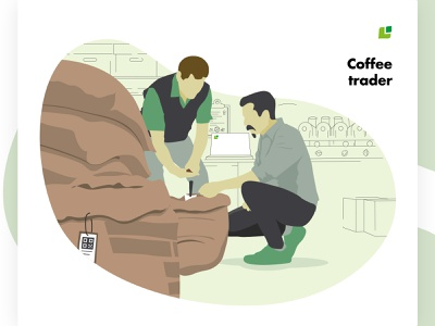 Meet the Cropster Personas: Coffee traders cafe coffee vector illustrator illustration personas brand