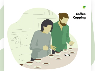 Meeting the Cropster Personas: Evaluators in coffee cupping personas branding coffee design vector illustration