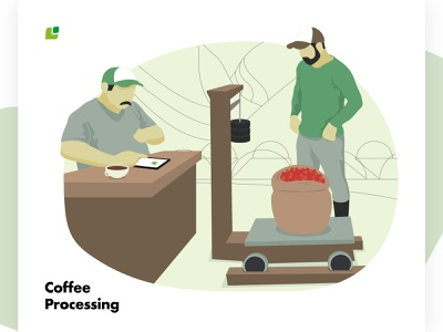 Meeting the Cropster Personas: Coffee processing branding personas coffee design vector illustration