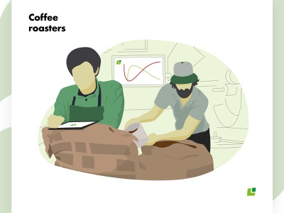 Meeting the Cropster Personas: Coffee roasters cafe branding personas coffee adobe illustrator design vector illustration