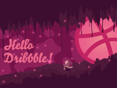 Hello Dribbble! illustrator caves dribbble indiana jones illustration