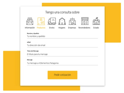Icons and Contact form for Solar Co.