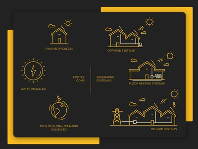 Icons and graphics for Solar Co.