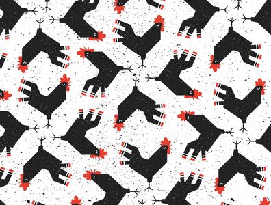 Rooster Pattern pattern illustration logos logodesign branding logo