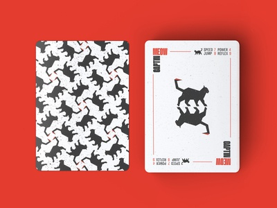 Captain MEOW Playing Cards cards playingcards game playing icon vector design logos logodesign logo pattern