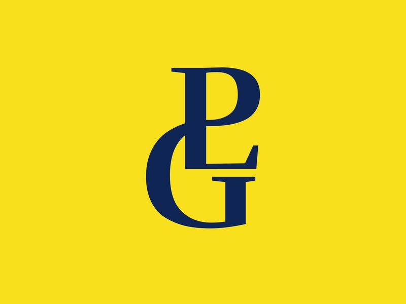 PLG Monogram typography vector type branding logotype logos logo monogram
