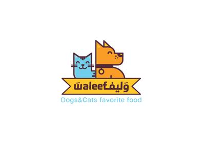 Waleef (pets food shop) Logo Design