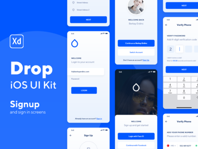 Drop iOS UI Kit Screens