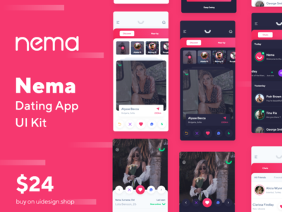 Nema Dating App UI Kit