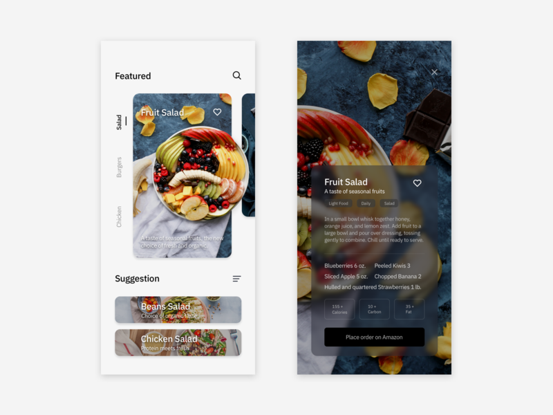 Recipe App / UI Design Practice interface design uidesign app design app ui design