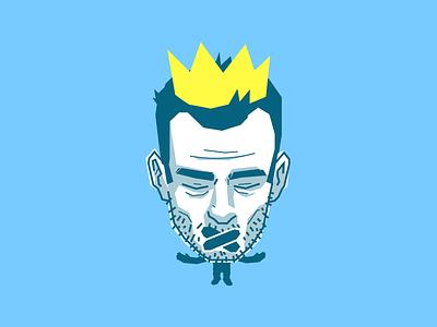 Silence King crown man boy vecto selfie portrait self