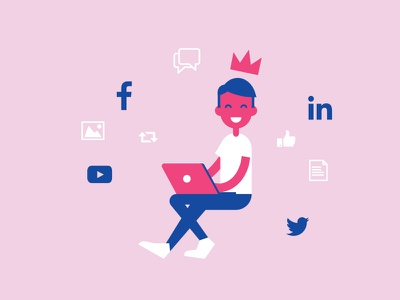 Social media addict linkedin twitter facebook mobile young