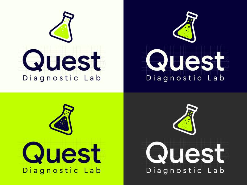 Quest Diagnostic Lab LOGO Design quality ui lab logo inspiration inspire concept logo designer animated print mobile animation icon typography vector branding logo design illustration