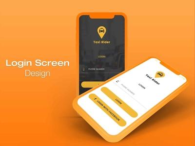 Taxi App Login Screen