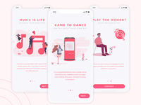 Audiotorily Music App Onboarding