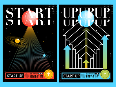 Start Up post poster design