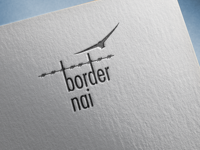 Logo for an initiative towards anti border world logo ux ui graphic 2d design agency typography earth world cause causes branding