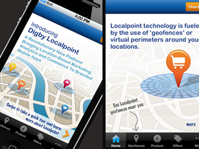 Location Marketing Mobile App by Carla Pileggi on Dribbble