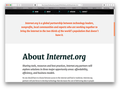 Internet.org Redesign #1 typography responsive