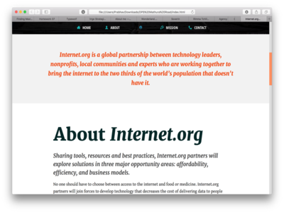 Internet.org Redesign #1