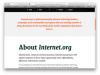 Internet.org Redesign #1