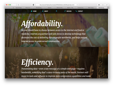Internet.org Redesign #2 typography responsive