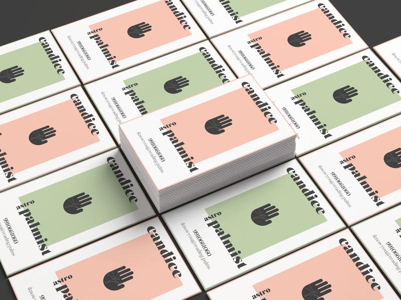 Business Cards for Palmist lifestyle business card branding mockups business card mockups business cards branding portfolio