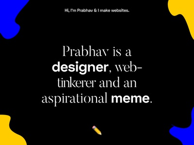 New website? design blog typography blue abstract black yellow responsive website concept personal website website emoji introduce personal brand personal blog graphic  design portfolio