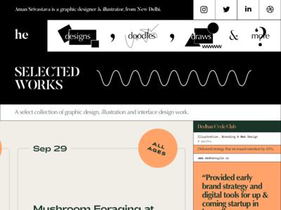 Portfolio concept for graphic designer