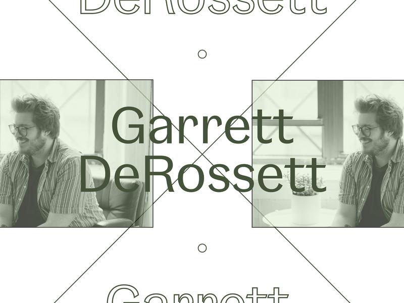 Interview with Garrett DeRossett of Alright Studio magazine editorial interview typography