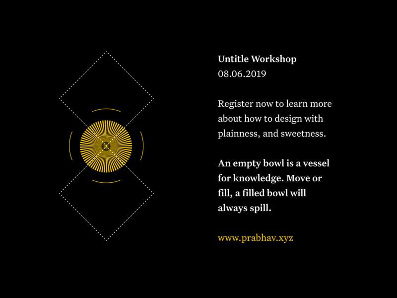 plainness & sweetness figma logo pattern abstract typography black poster design minimal neutral untitled dark mode yellow circular shapes geometric illustration poster