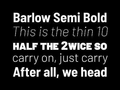 barlow semi bold typography design black