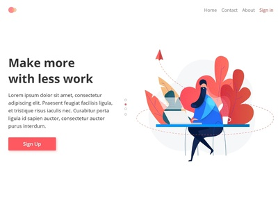 Workspace UI Illustration interface new app design uidesign interaction people creative colours illustration ui fresh character design character