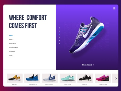 Landing Page Design Challenge 👟 dashboard colors design process ui kit interface application product design mobile ui typography wireframe website design ui design ui web design landing page shoes nike challenge daily ui dailyui