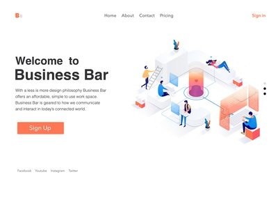 Workspace Illustration - UI Design