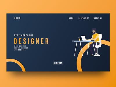 Landing Page illustration minimalui webdesign uitrends uxdesign uidesign landingpage adobexd