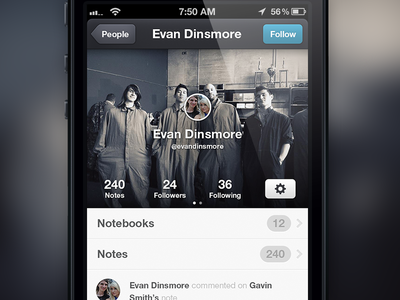 User Profile Interface