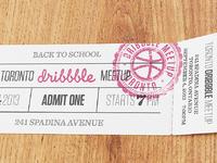 Toronto meetup ticket