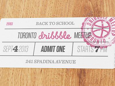 Toronto Dribbble Meetup - September 4th