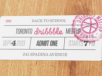 Toronto Dribbble Meetup - September 4th