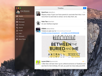 Tweetbot for Mac Redesign ui app ux interface flat redesign blur clear mac tweetbot yosemite os x