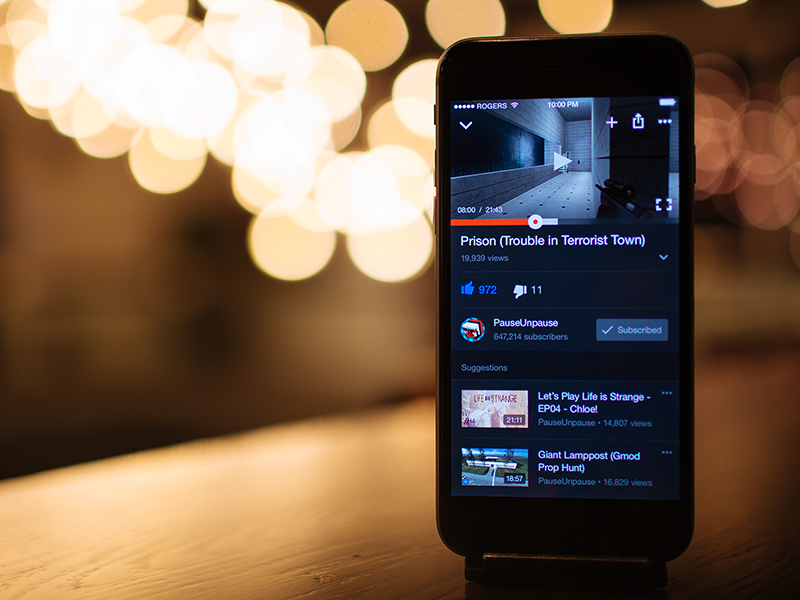 YouTube for iPhone Redesign ui ux interface red clean flat mobile redesign app iphone ios youtube