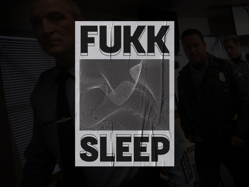 Fukksleep concert poster poster hip hop rap fkatwigs asap rocky warp illustrator lines geometric type typography minneapolis