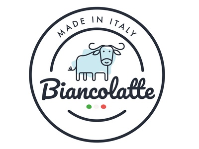 Biancolatte Logo digitalillustration design branding illustration