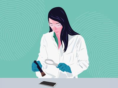Forensic Scientist science careers adobeillustrator illustration